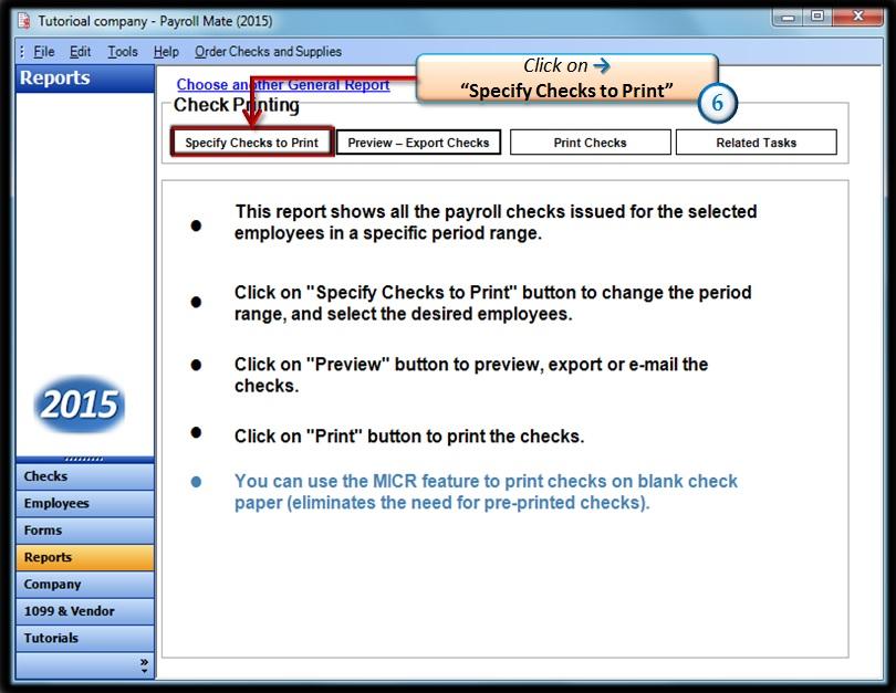 Specify Checks to print